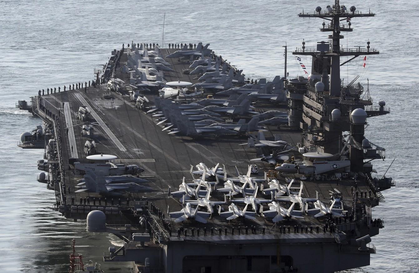 Pyongyang menace de couler le porte avions am ricain - Liste des porte avions americains ...