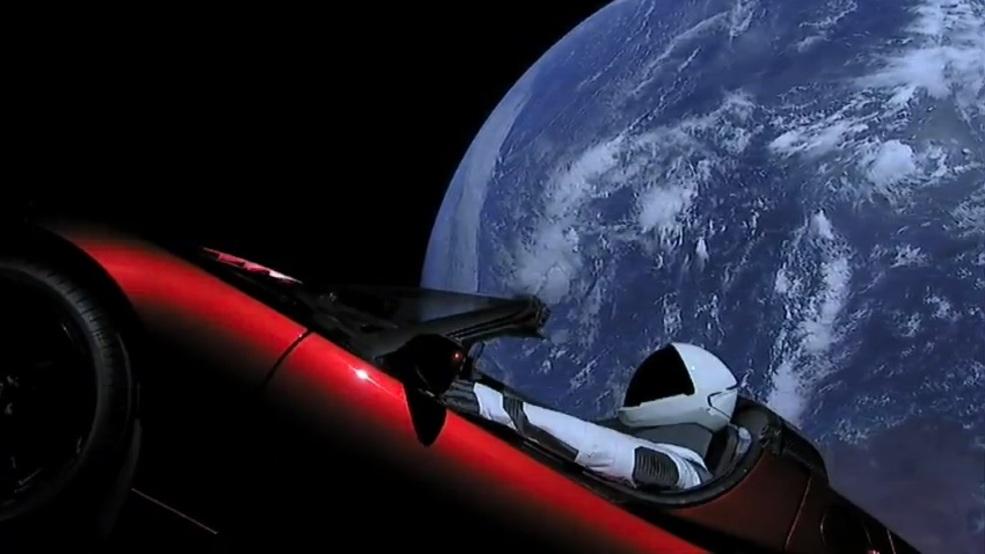 「Space X starman」的圖片搜尋結果